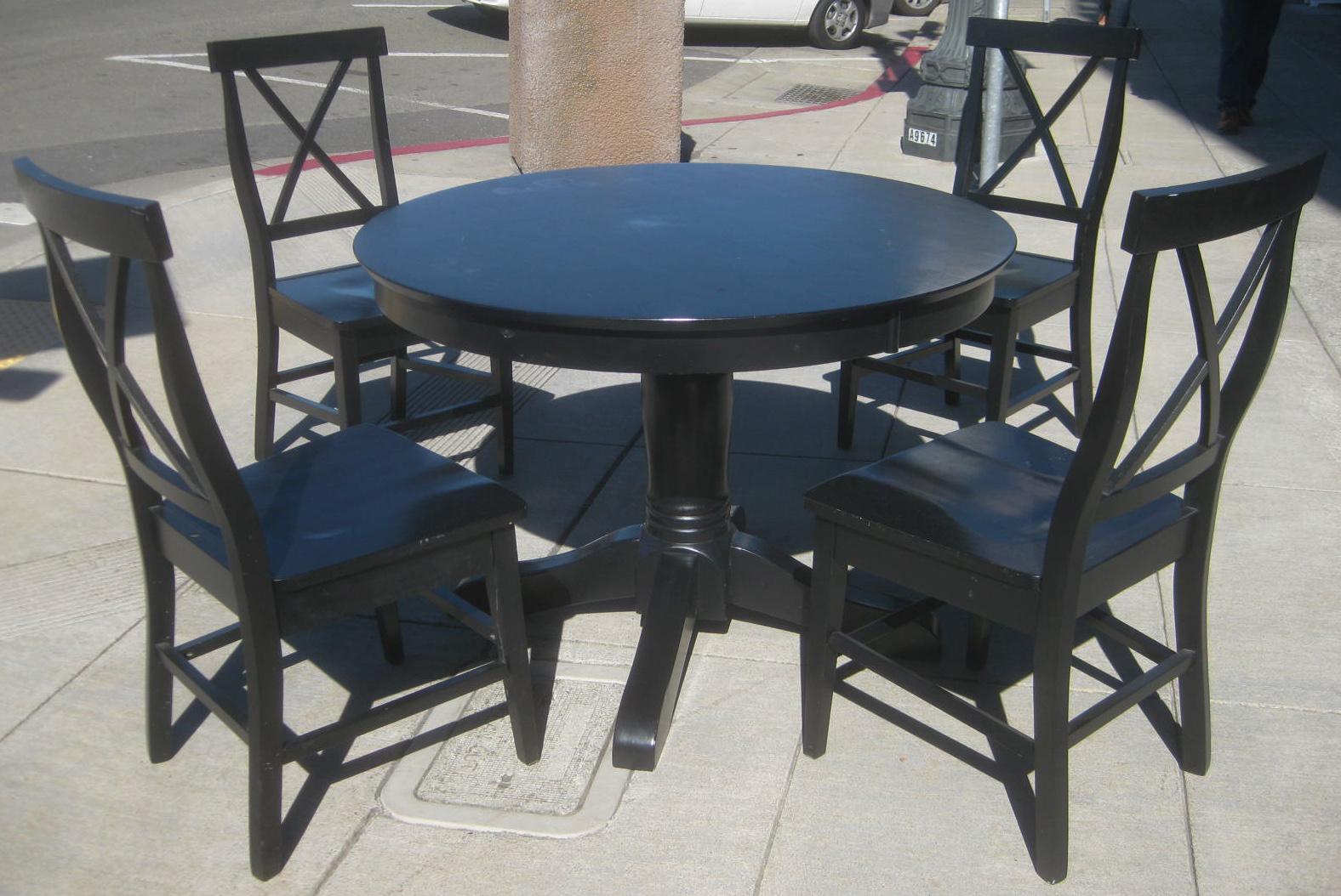 uhuru furniture collectibles sold crate and barrel dining set 225. Black Bedroom Furniture Sets. Home Design Ideas