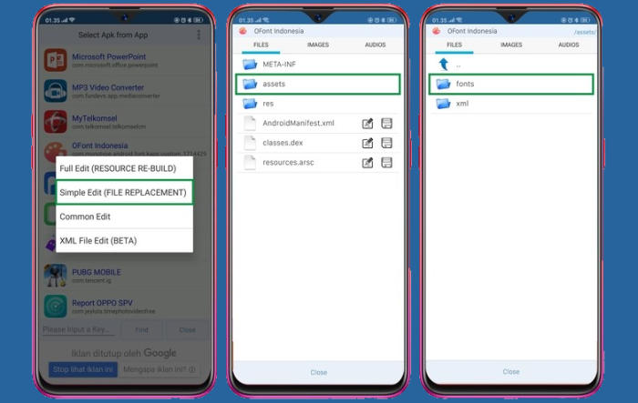 folder font Oppo F5 Youth