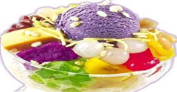Halo-Halo Dessert Or Mixed Fruits In Shaved Ice Recipe