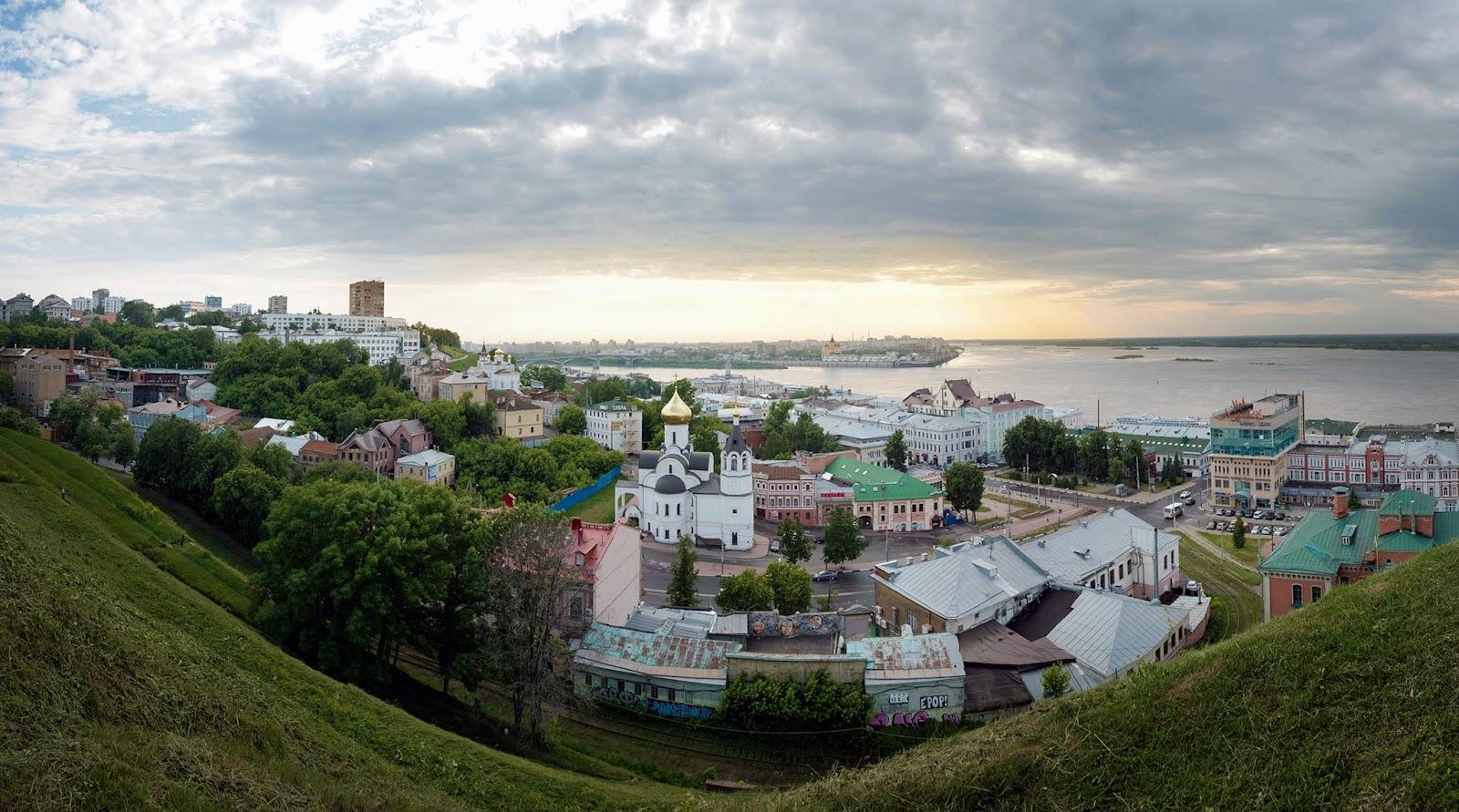 Панорама Нижнего Новгорода. Фотография