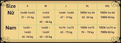 Cách chọn size áo thun dựa theo cân nặng và chiều cao