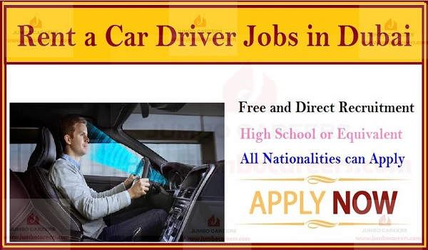 Driver cum Rent a Car Sales Executive Jobs in Dubai - Walk In Interview