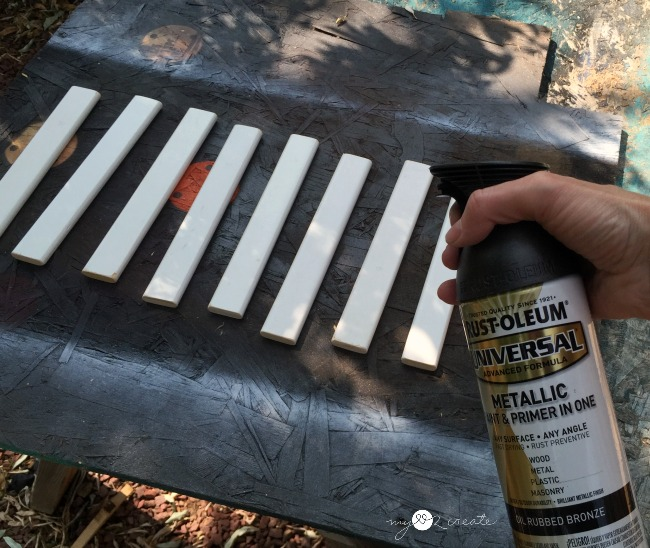 use a high heat spray paint for making trivets