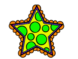 Free Printable Funny Stars Clipart.