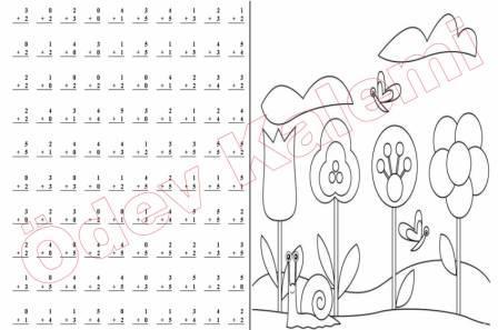 Toplama Islemleri Ve Boyama Calismasi 1 Sinif Matematik Dersi