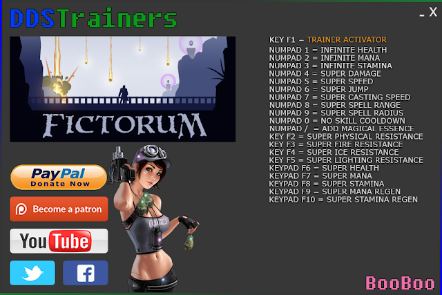 Fictorum Trainers and Cheats for PC