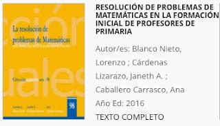 Resolución de Problemas Matemáticas Formación de Profesores de Primaria