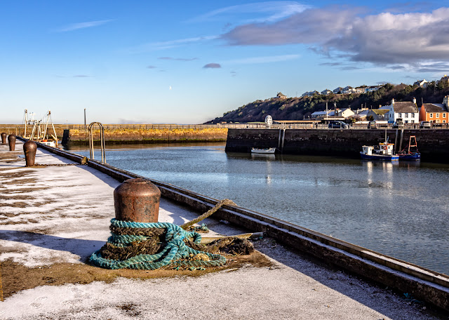 Photo of a sprinkling of snow at Maryport Harbour