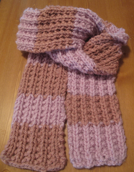 Easy And Unique Knit Scarf Farrow Rib Scarf