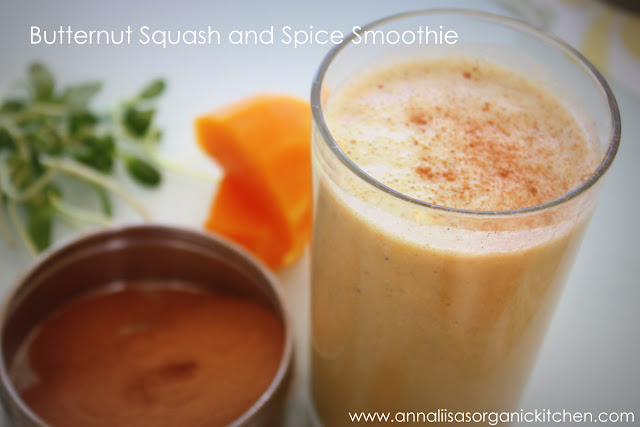 Butternut squash and spice smoothie