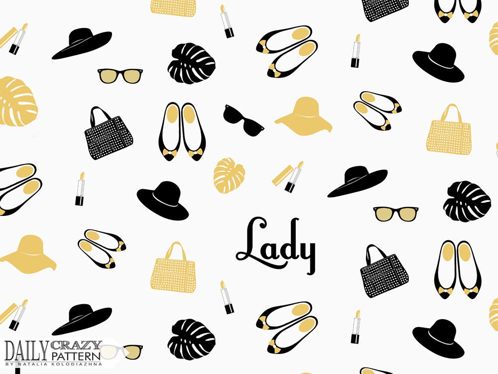 "Yellow and black lady pattern for ""Daily Crazy Pattern"" project"