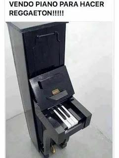 vendo piano para hacer reggaeton humor