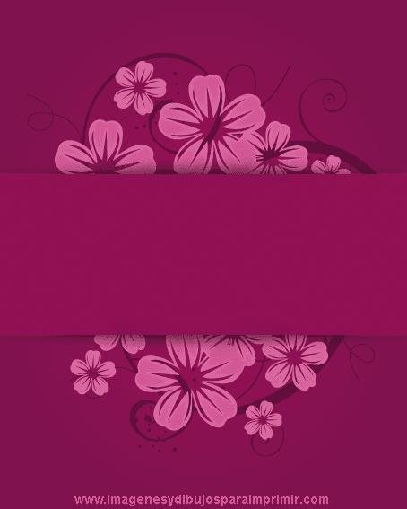 Imprimir Tarjetas Flores Violetas Imagenes Y Dibujos Para