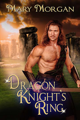Dragon Knight's Ring by Mary Morgan, time travel Scottish Romance, available at Amazon