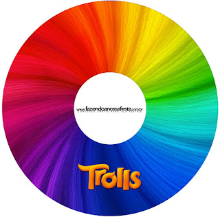 Etiquetas de Trolls  para CD's.