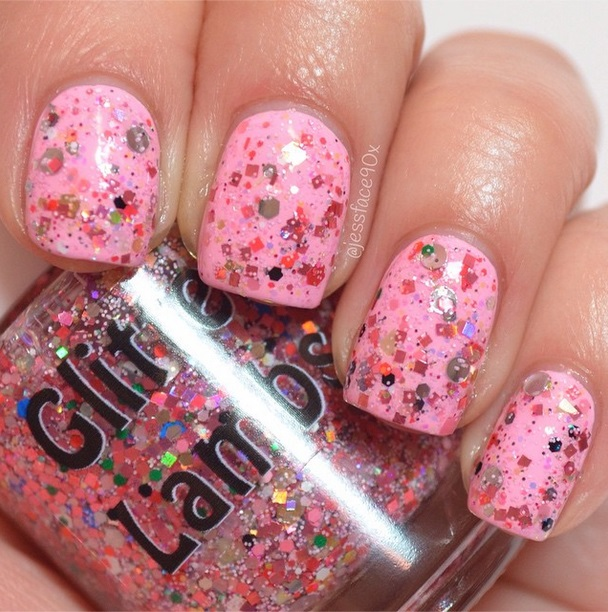 "Glitter Lambs ""Christmas Jelly Roll"" glitter topper nail polish worn by @JessFace90x"
