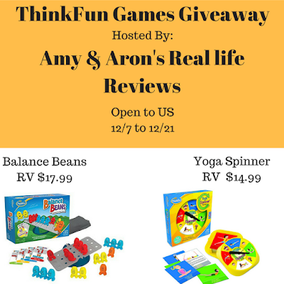 Enter to win the ThinkFun Games Giveaway. Ends 12/21