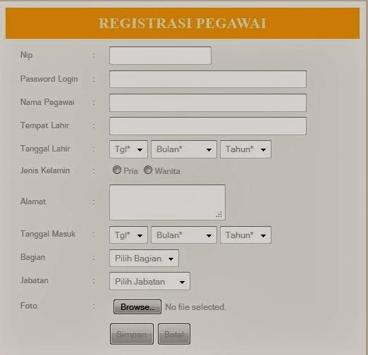 Silahkan Download 2 gratis Aplikasi Sistem Informasi Pegawei Berbasis Web dengan PHP 'Source Code Siap Pakai'