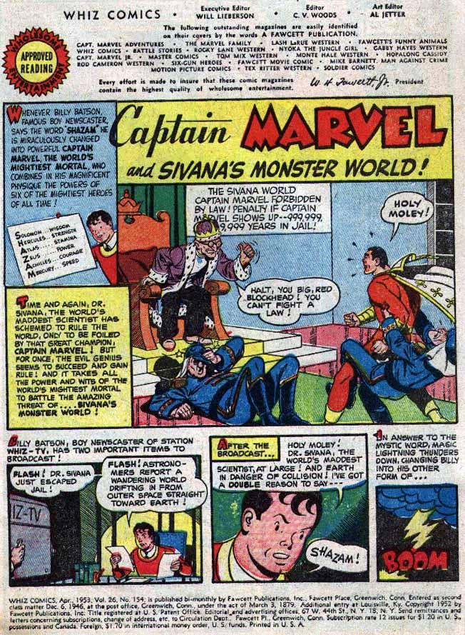 Read online WHIZ Comics comic -  Issue #154 - 3