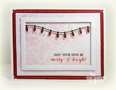 Our Daily Bread Designs Stamp Set: Merry & Bright, Our Daily Bread Designs Custom Dies: Snowflake Sky, Christmas Lights, Pierced Rectangles, Rectangles