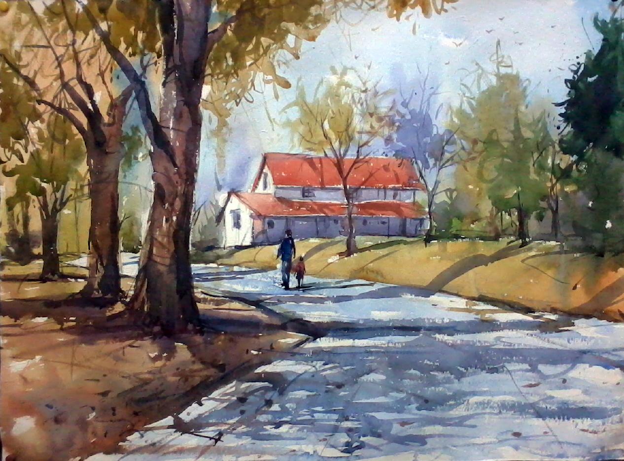 Village Blue Paint