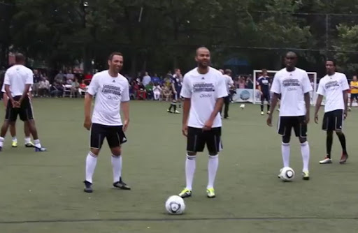 Youri Djorkaeff and Tony Parker featured in Steve Nash's charity match Showdown in Chinatown