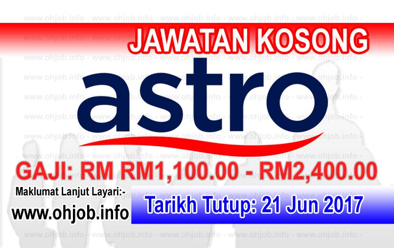 Jawatan Kerja Kosong ASTRO logo www.ohjob.info jun 2017