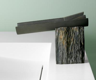 granite and metal faucet