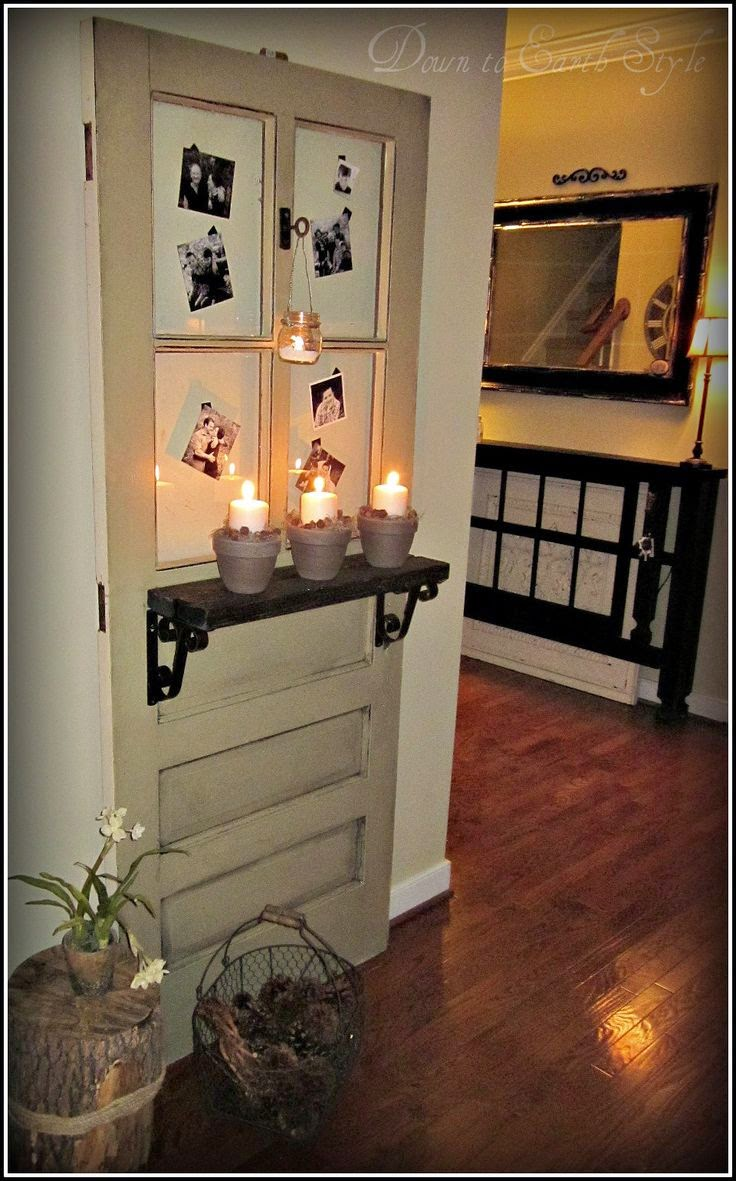 Little brags decorating with old doors for Door design accessories