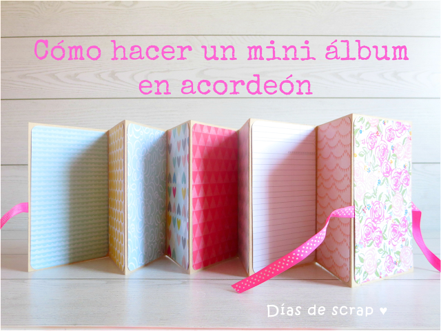 scrap tutorial paso a paso mini álbum acordeón Youtube