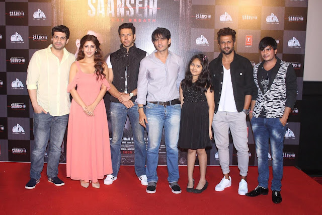 Sassy Sonarika and dashing Rajniesh glam up SAANSEIN - THE LAST BREATH Trailer Launch