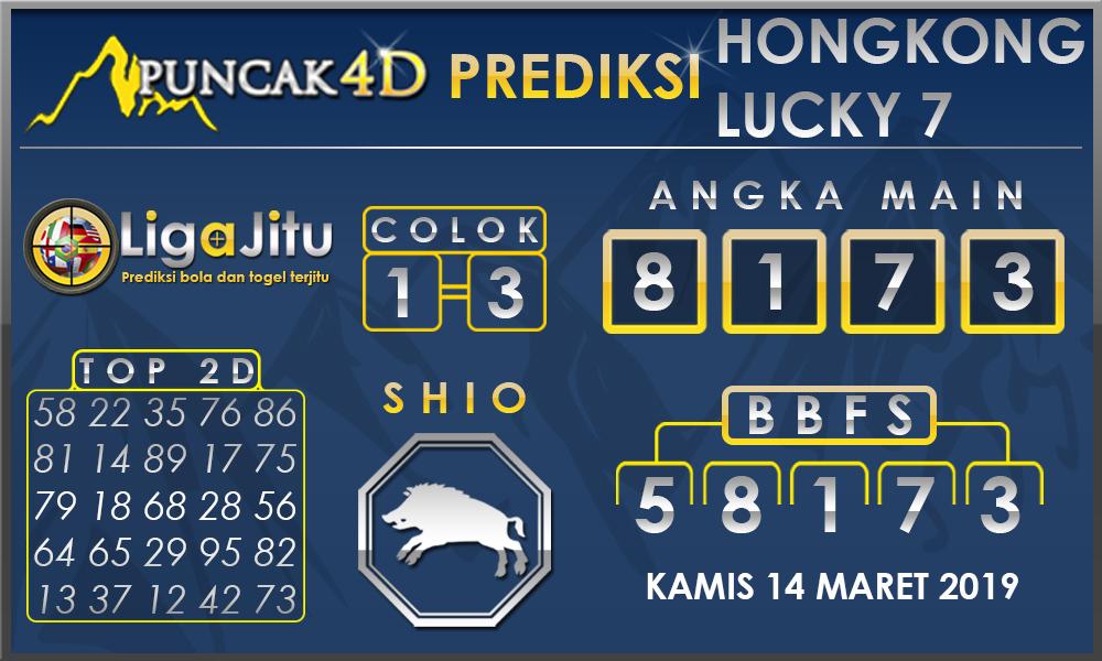 PREDIKSI TOGEL HONGKONG LUCKY 7 PUNCAK4D 13 MARET 2019