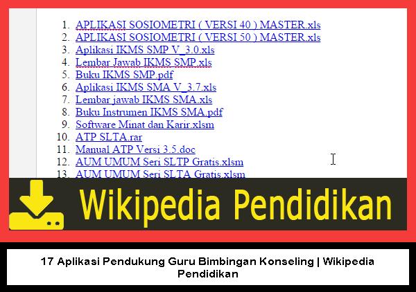 17 Aplikasi Pendukung Guru Bimbingan Konseling | Wikipedia Pendidikan