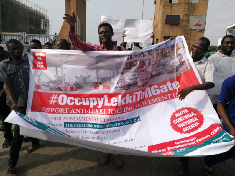 Photos from the #OccupyLekkiTollGate Held in Lagos