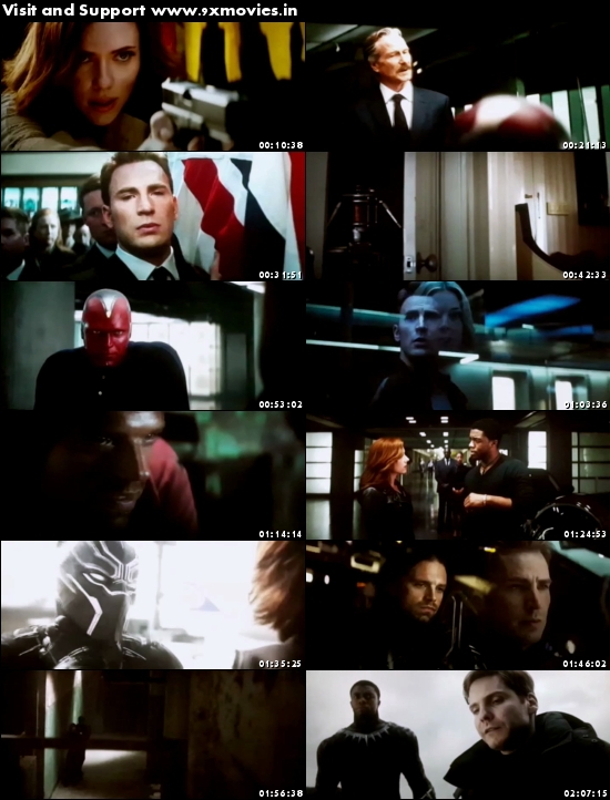 Captain America Civil War 2016 English HDCAM x264 800MB