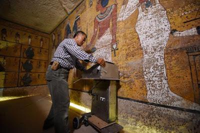 Δύο θαλάμους πίσω από τον τάφο του Τουταγχαμών δείχνει το σκάνερ