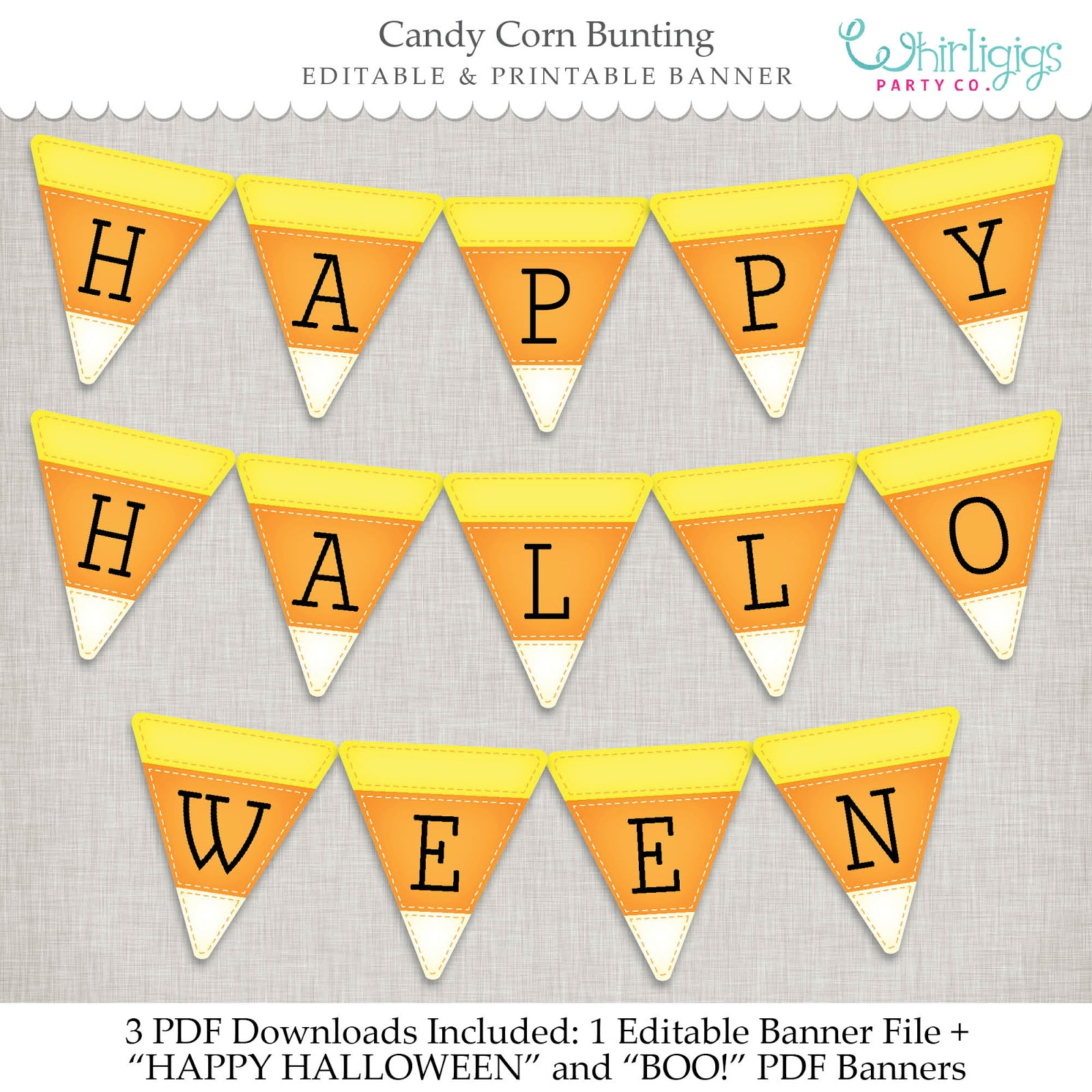whirligigs party co halloween banners to make