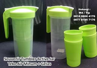 Active Jar, teko dengan bonus gelas didalamnya, ceret ketel air minum, import murah, Teko Air Minum + Gelas 4 pcs