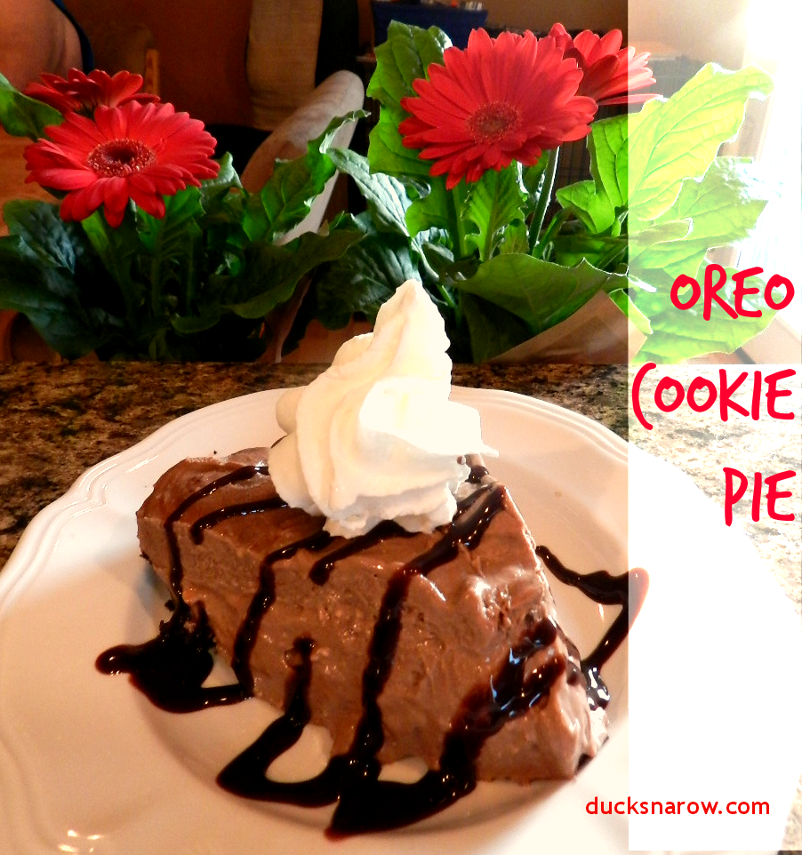 No-bake Oreo Cookie Pie #oreos #pie #dessert #chocolate Ducks 'n a Row