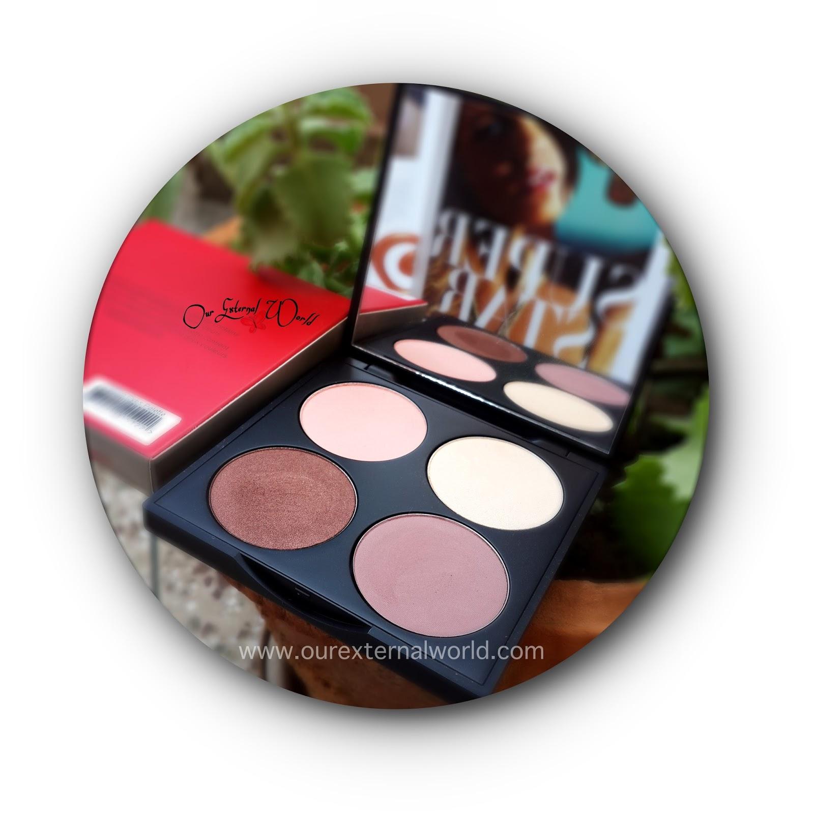 Gorgeous Cosmetics 4 Color Palette - Taupe, Peach, Copper -2555