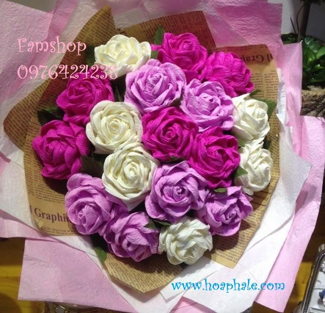 Hoa giay nhun tai Ba Dinh