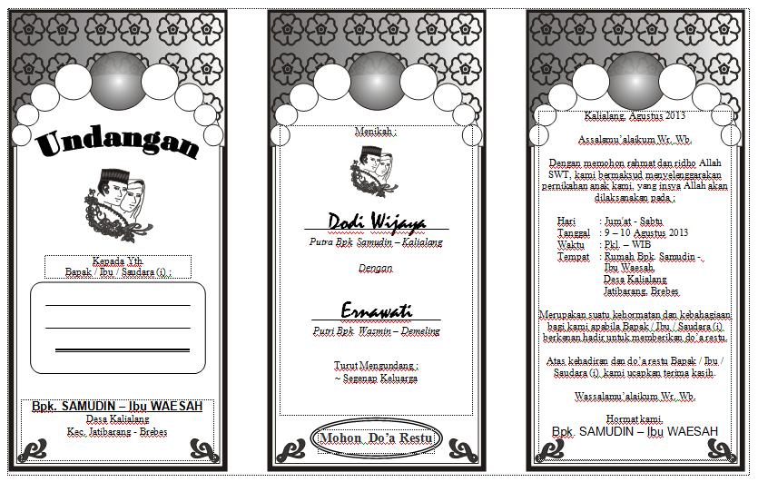Format Undangan Pernikahan Setiopolistexas