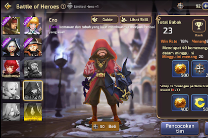 Daftar Hero Terkuat Di Arena Battle of Heros Dragon Nest M SEA