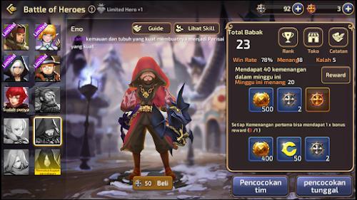 Daftar Hero Terkuat Di Arena Battle of Heros Dragon Nest M SEA
