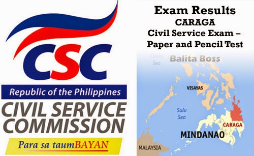 Caraga - Civil Service Exam Results