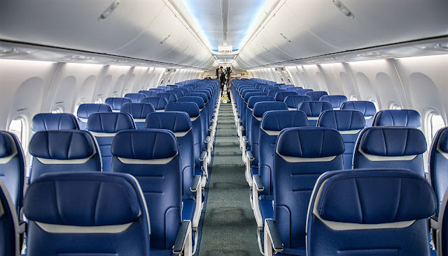 Boeing 737 MAX Cabin Interior Front View