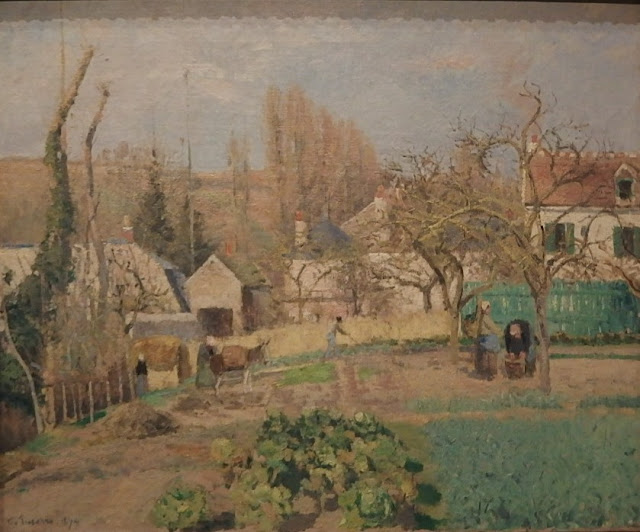 Pisarro's kitchen garden painting