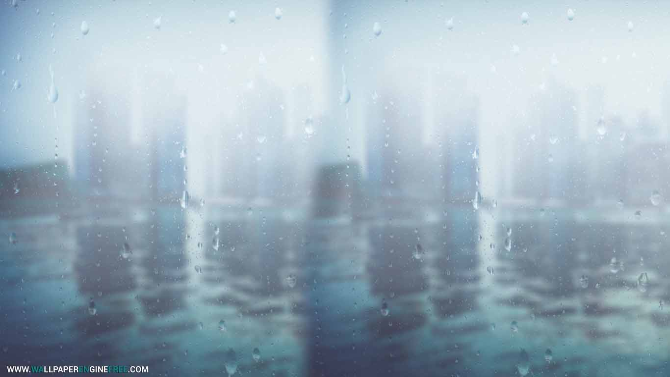 Download Rain Drops Heavy Rain Wallpaper Engine Free FREE