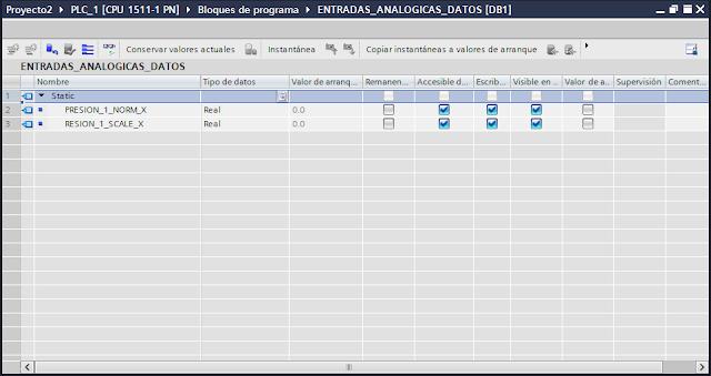 Agregar variables en el DB tia portal v14