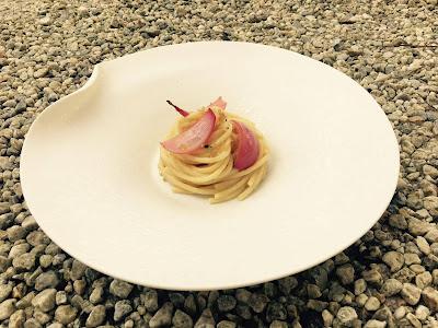 spaghetti con agnello e cipolla laccata- Lucia Tellone